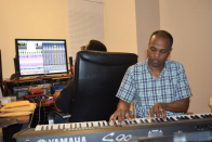 Behind the scenes-Stephen LaFlora on keyboard, Gospel Singer, Pastor, husband of Candy LaFlora