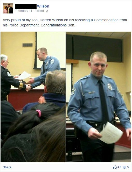 "Officer Darren Wilson, Source:Yahoo online media, 201408/18,  3""00pm ct., :http://news.yahoo.com/photos-ferguson-officer-darren-wilson-received-police-award-earlier-this-year-021255893.html?clear=cache"