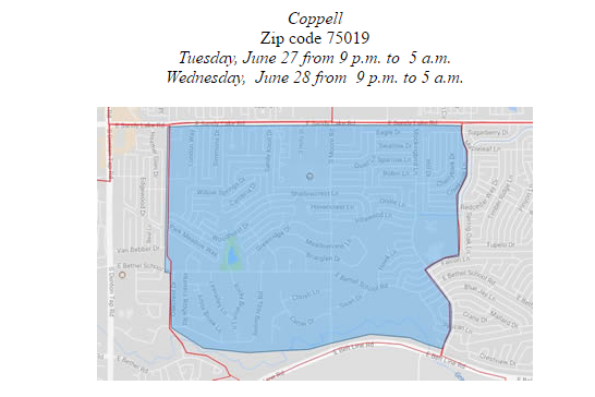 Coppell Tx Zip Code Map.West Nile Mosquito Detected In Coppell Texas Acawmedia